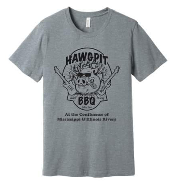 Hawg Pit T-Shirt Gray Grafton IL 62037